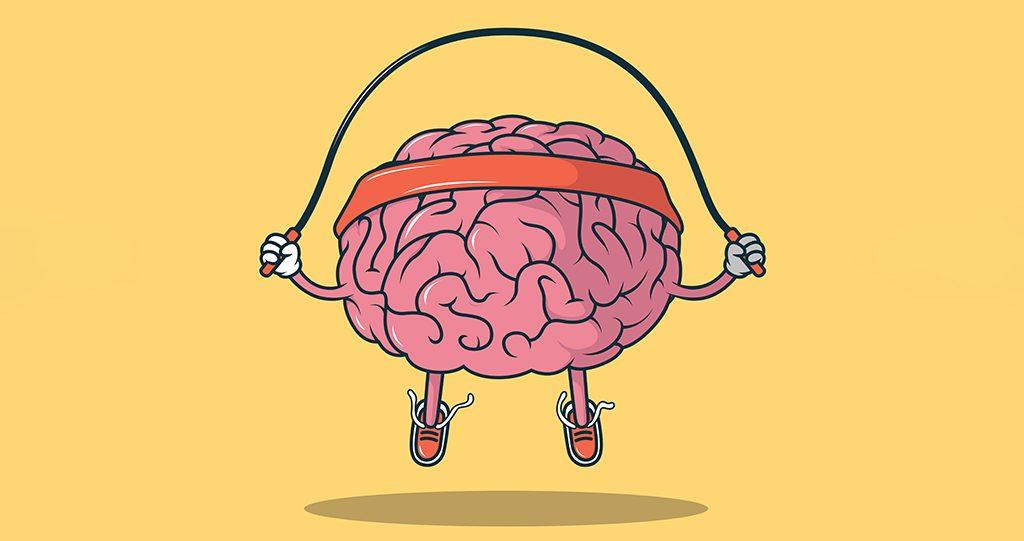 jumping-rope-brain-vector-illustration